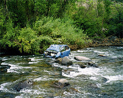 Elizabeth James was driving on the interstate when her Prius accelerated out of control near Lawson, Colorado. She crashed through a forest and ended up in a river.