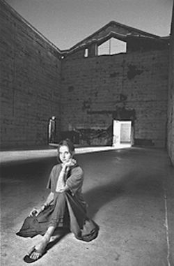 Helen Hestenes chills in the Cathedral Room of the Icehouse.