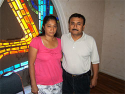 Immigrants Maricela Garcia and Felipe Meza.