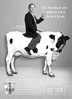 Rick Schibler, seen here on a cow, is Subway Corporation's longtime Arizona development agent.