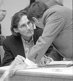 Prison snitch Fred Tokars at his 1991 murder trial in Atlanta, one of the biggest cases in Georgia history.