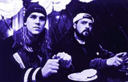 Jason Mewes (left) and Kevin Smith in Dogma.