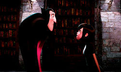 Fangs a lot: Drac and Mavis go toe-to-toe in Hotel Transylvania.