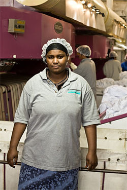 Talasey Abdt, another worker at Milum Textile
