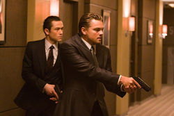 Dream weavers: Leonardo DiCaprio and Joseph Gordon-Levitt in Inception.