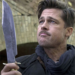 Brad Pitt dreams of Nazi scalps in Inglourious Basterds.