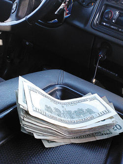 Money paid to Sergio for fronting a load of marijuana in his car.