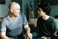 Class dismissed: John Malkovich (left) teaches Max Minghella about life and art in Art School Confidential.