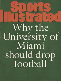 Another SI cover criticizing Miami's program during Erickson's tenure