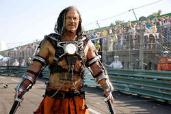Zap to it: Mickey Rourke has lightning in his hands in Iron Man 2.
