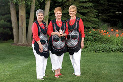 Left to right: Judy Herkner Harmon, Sue Herkner Keegstra, and Lynda Herkner