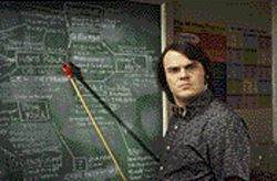 Class act: Jack Black is in his element as a rocker masquerading as a teacher in School of Rock.
