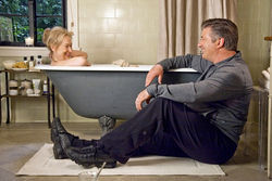 Tub toy: Meryl Streep and Alec Baldwin are flinging exes in It's Complicated.