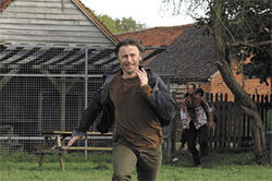 Dead run: Robert Carlyle evades a Rage-infected zombie in 28 Weeks Later.