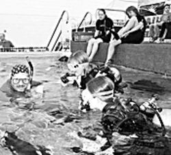 Get your feet wet with scuba lessons at the Outdoor Expo, indoors.