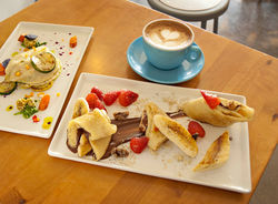 Jeff Kraus' crepes create a simple harmony of quality ingredients and deftness in execution.