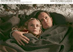 War is hell: Benno F&amp;uuml;rmann (right) snuggles with Diane Kruger in Joyeux No&amp;euml;l (Merry Christmas).