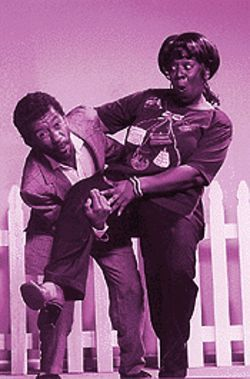 Mike Traylor and Masequa Myers are Willie and Esther.