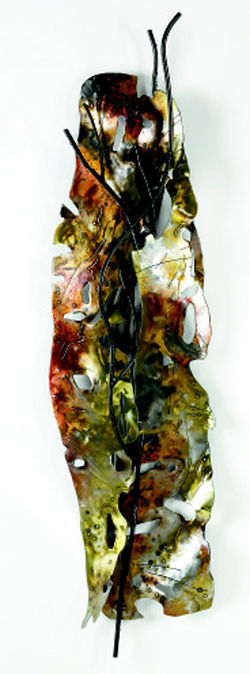 "One of Joan Waters' leaf-like ""shields"""