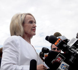 Dumber than a bag of bricks, our nightmare for the next four years, Governor Jan Brewer.