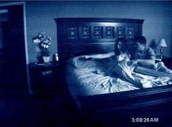A scene from Paranormal Activity