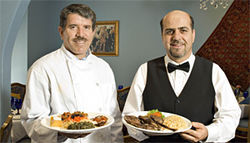 New to town: Chef Jalal Achakzai (left) and Haroon Sherzai, owners of Kabab Palace, relocated to Tempe from San Francisco.