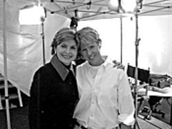 Gloria Allred with her pro bono client, McCallie