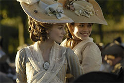 A fine mess: Keira Knightley (pictured with Hayley Atwell) is the star and the weak link of The Duchess.