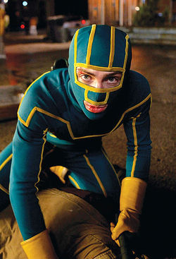 Tights situation: Aaron Johnson is our nerdy hero in Kick-Ass.