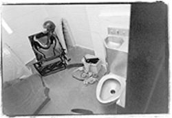 The restraint chair and mechanical restraints in the separation cottage at Adobe Mountain.
