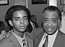 "Maupin with Sharpton in Phoenix, October 2003: ""Some people call me his 'Mini Me.'"""