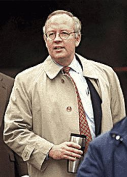 Starr power: Clinton enemy Ken Starr is one of many people linked to The Hunting of the President.