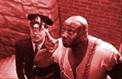 Hard cell: Tom Hanks and Michael Clarke Duncan in The Green Mile.