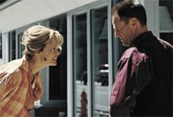 The searcher: Sam Shepard (right, with Jessica Lange) travels to find the son he never knew he had in Don't Come Knocking.