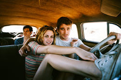 Kristen Stewart and Garrett Hedlund star in On the Road.