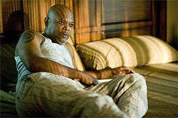 Good cop bad cop: Samuel L. Jackson stars as the offended neighbor in Neil LaBute&#039;s Lakeview Terrace.
