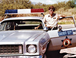 On the road as a young deputy in the late 1970s.