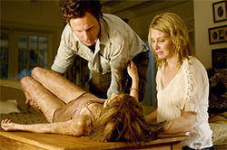 Is this what you wanted to see?: Tony Goldwyn, Sara Paxton, and Monica Potter take a beating in The Last House on the Left.