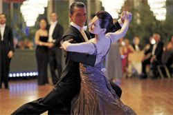 Dance fever: Antonio Banderas and Anna Dimitrie Melamed cut a rug in Take the Lead.