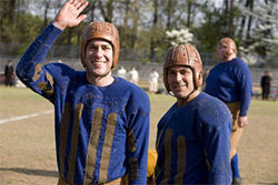 Everybody loves a hero: George Clooney and John Krasinski in Leatherheads.