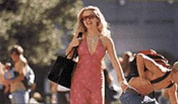 Bland ambition: Reese Witherspoon acts like a ditz in  Legally Blonde.