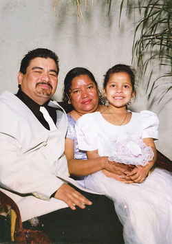 Juan Varela, with wife Maria and daughter Paulita