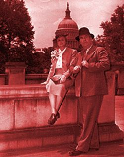Congressman John Murdock and his wife, Myrtle, at the Capitol in Washington, D.C.
