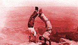 David Murdock, right, handstanding at the Grand Canyon in the early 1930s.