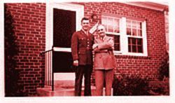 David Murdock with his father, John, before leaving for the war in 1942.