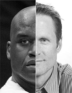 Shaquille O&#039;Neal and Steve Kerr