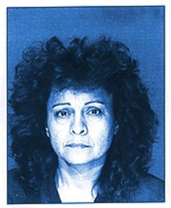 Lucia America Diaz after her arrest, in an October 1997 booking photo.