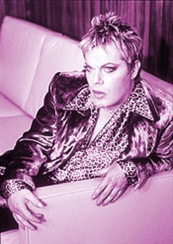 I wanna be a male lesbian: Eddie Izzard is both an action transvestite and the funniest man in or out of a gown.