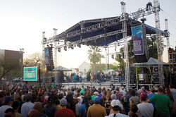 The stage at McDowell Mountain  Music Fest