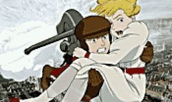 Hot flashes: Boy hero Ray Steam and Scarlett (yes,  O'Hara) in Steamboy.